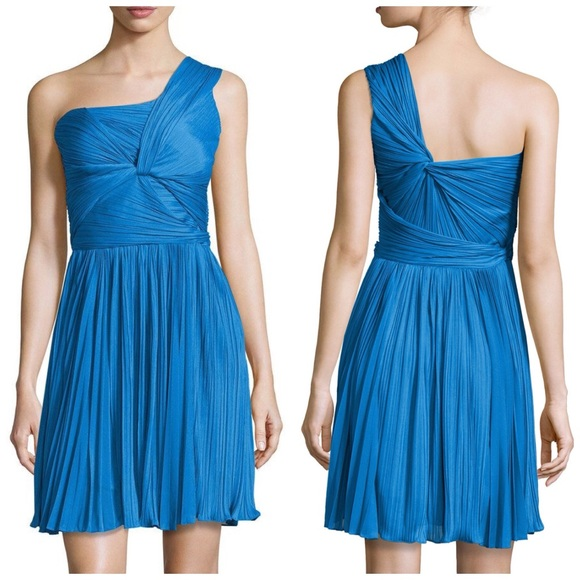 Halston Heritage Dresses & Skirts - Halston Heritage blue pleated cocktail dress 2